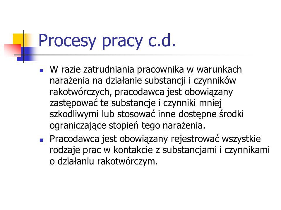 Procesy pracy c.d.