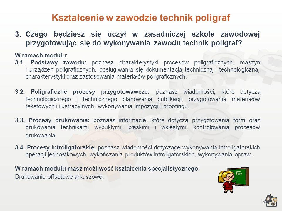 Kształcenie w zawodzie technik poligraf