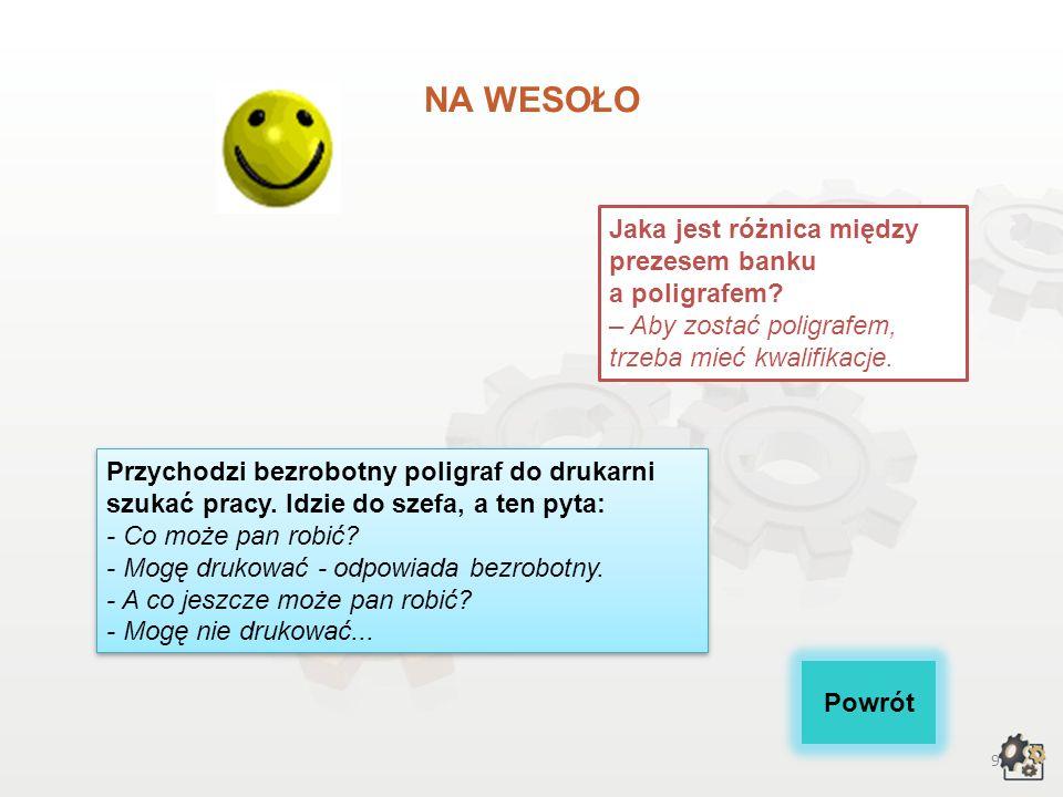 NA WESOŁO Jaka jest różnica między prezesem banku a poligrafem