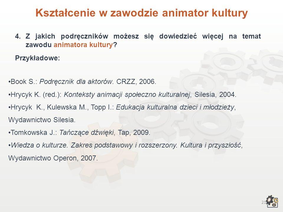 Kształcenie w zawodzie animator kultury