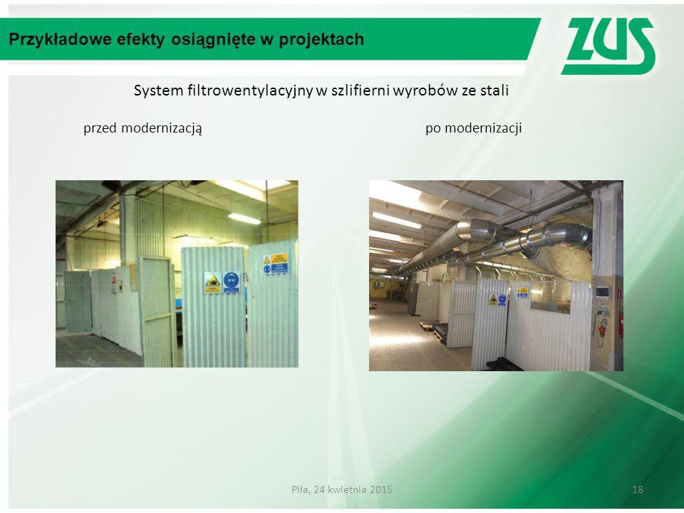 System filtrowentylacyjny w szlifierni wyrobów ze stali