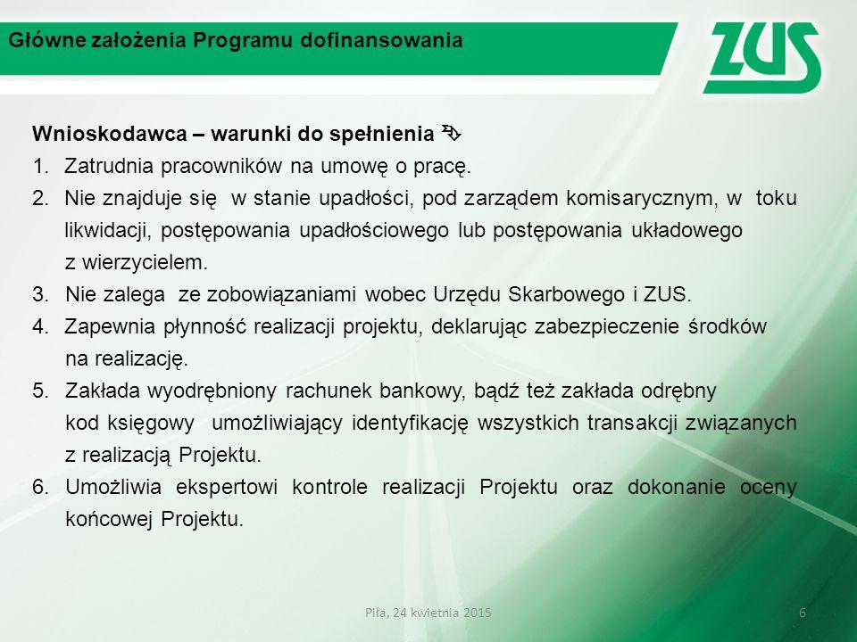 Główne założenia Programu dofinansowania