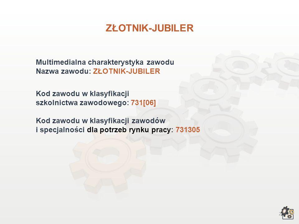 ZŁOTNIK-JUBILER Multimedialna charakterystyka zawodu