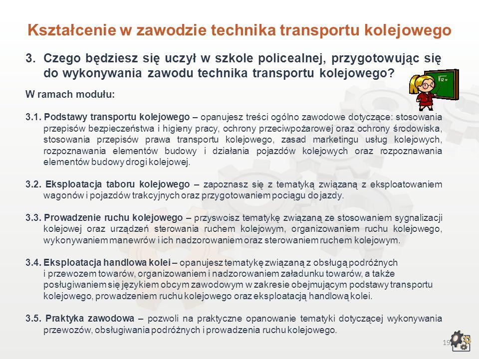 Kształcenie w zawodzie technika transportu kolejowego