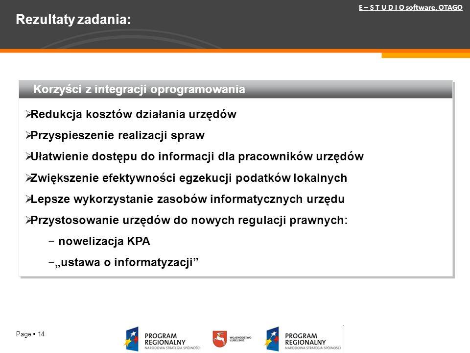 Rezultaty zadania: Korzyści z integracji oprogramowania