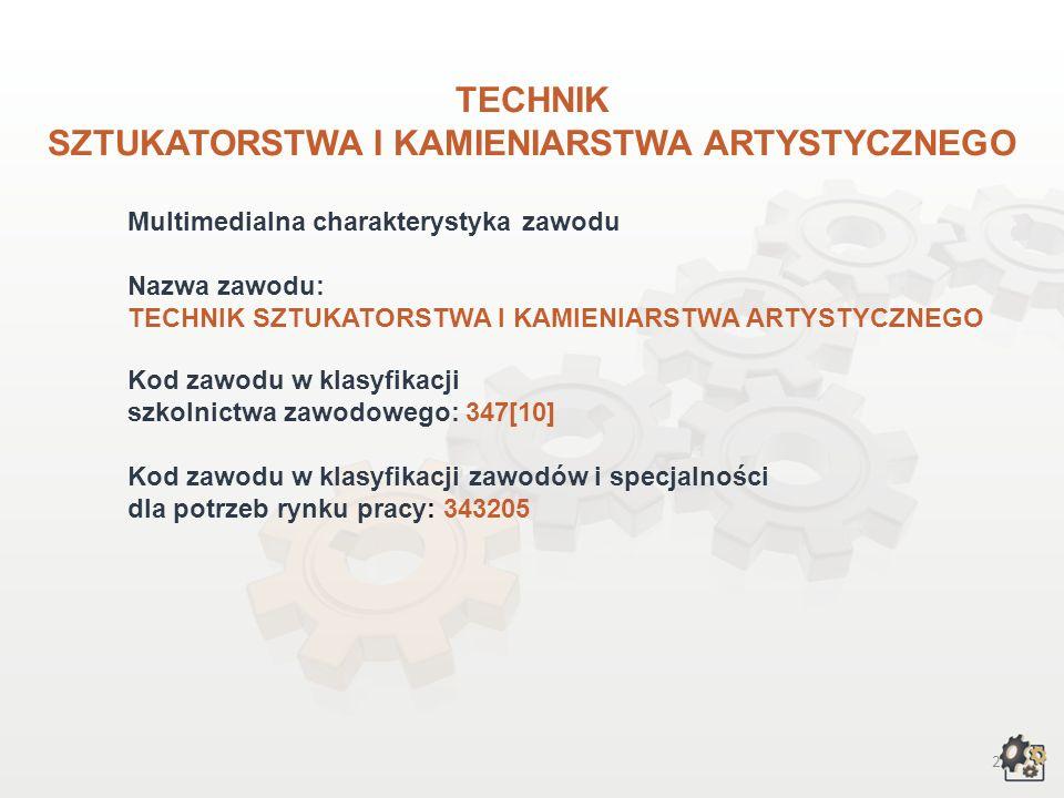 TECHNIK SZTUKATORSTWA I KAMIENIARSTWA ARTYSTYCZNEGO