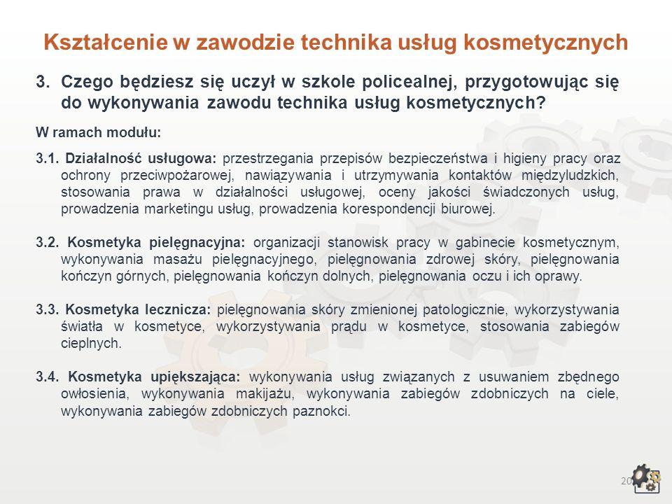 Kształcenie w zawodzie technika usług kosmetycznych