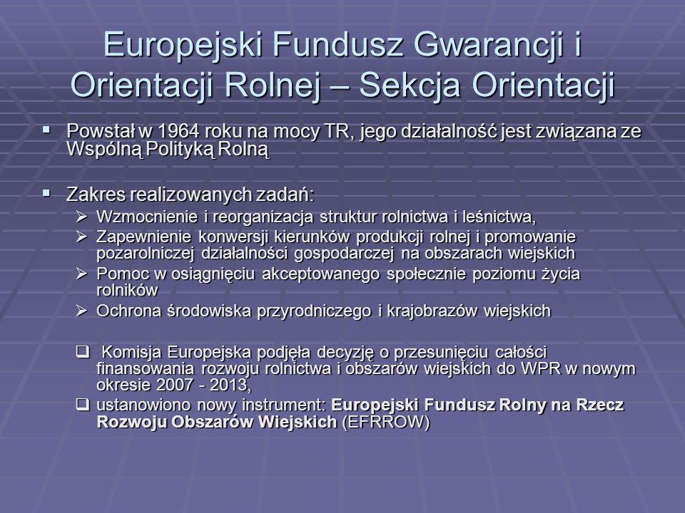 Europejski Fundusz Gwarancji i Orientacji Rolnej – Sekcja Orientacji