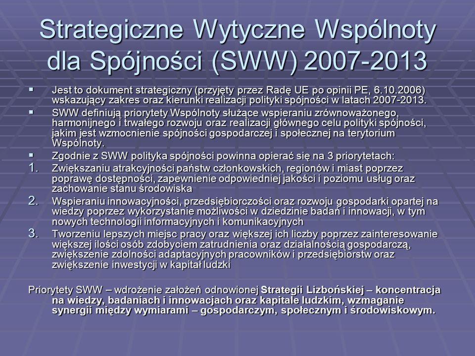 Strategiczne Wytyczne Wspólnoty dla Spójności (SWW) 2007-2013