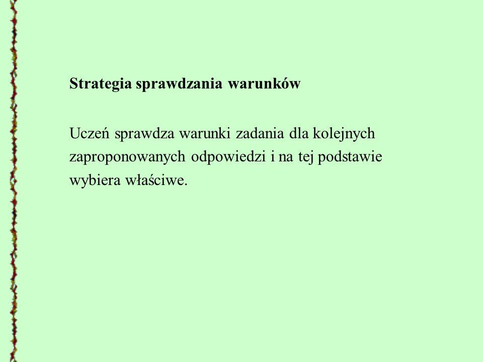 Strategia sprawdzania warunków
