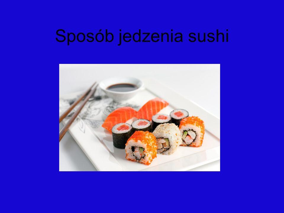 Sposób jedzenia sushi