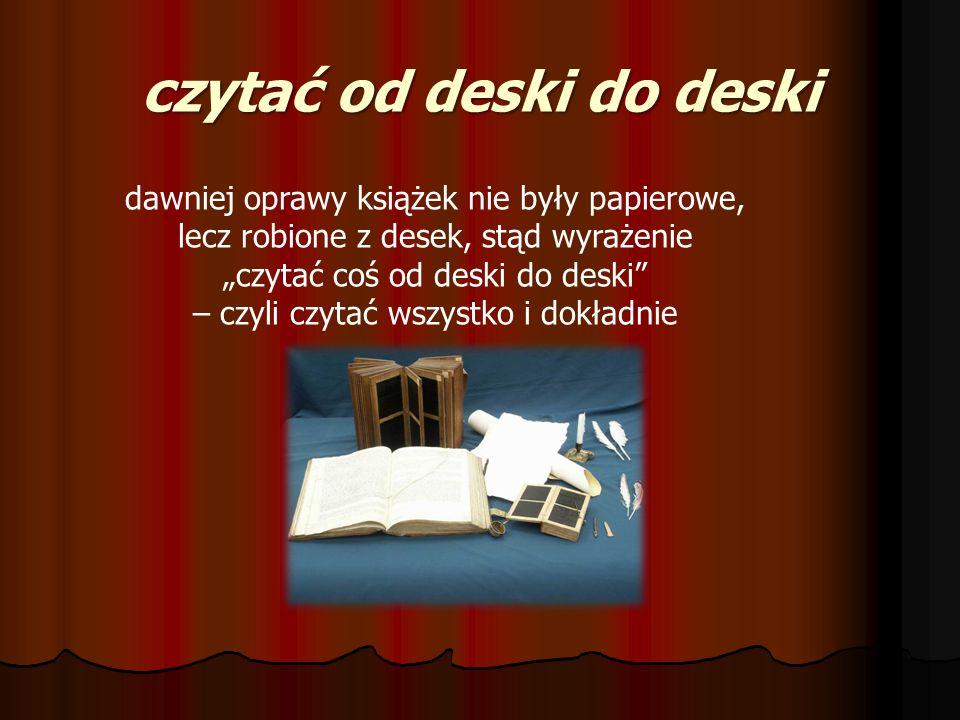 czytać od deski do deski