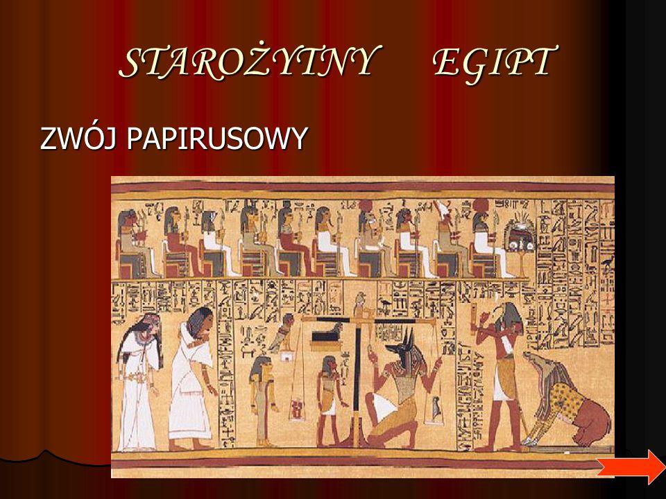 STAROŻYTNY EGIPT ZWÓJ PAPIRUSOWY