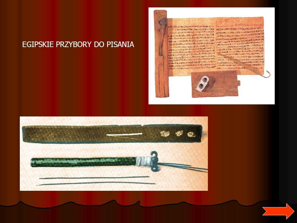 EGIPSKIE PRZYBORY DO PISANIA