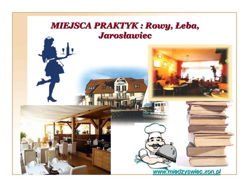 MIEJSCA PRAKTYK : Rowy, Łeba, Jarosławiec