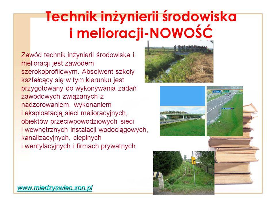 Technik inżynierii środowiska i melioracji-NOWOŚĆ