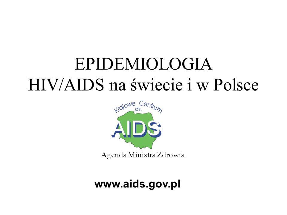 EPIDEMIOLOGIA HIV/AIDS na świecie i w Polsce