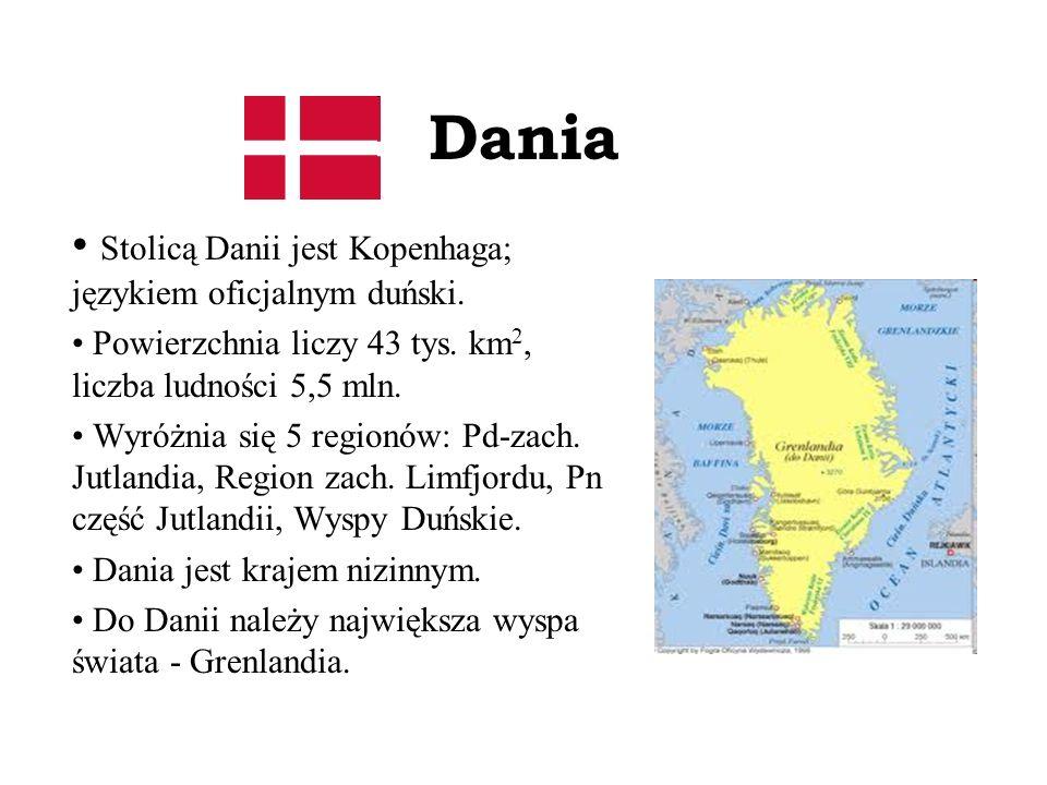 Dania Stolicą Danii jest Kopenhaga; językiem oficjalnym duński.