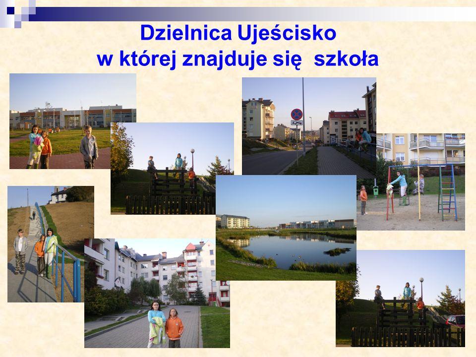 Dzielnica Ujeścisko w której znajduje się szkoła