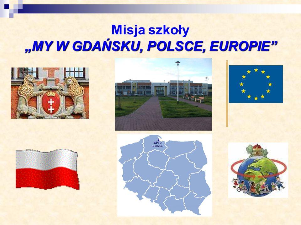 """Misja szkoły """"MY W GDAŃSKU, POLSCE, EUROPIE"""