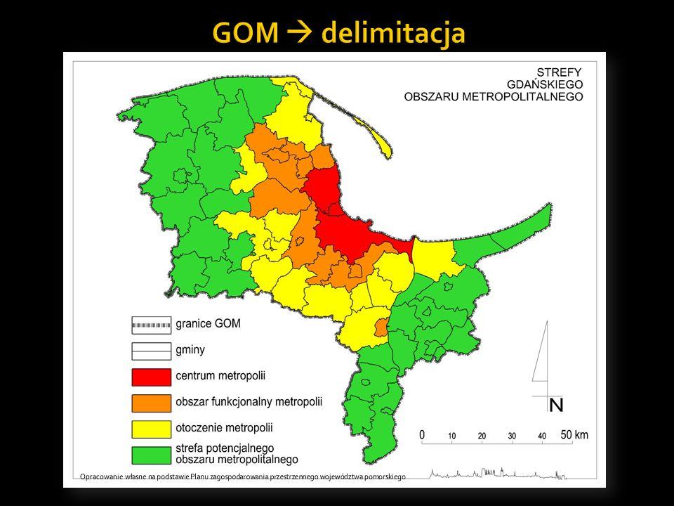 GOM  delimitacja Opracowanie własne na podstawie Planu zagospodarowania przestrzennego województwa pomorskiego.