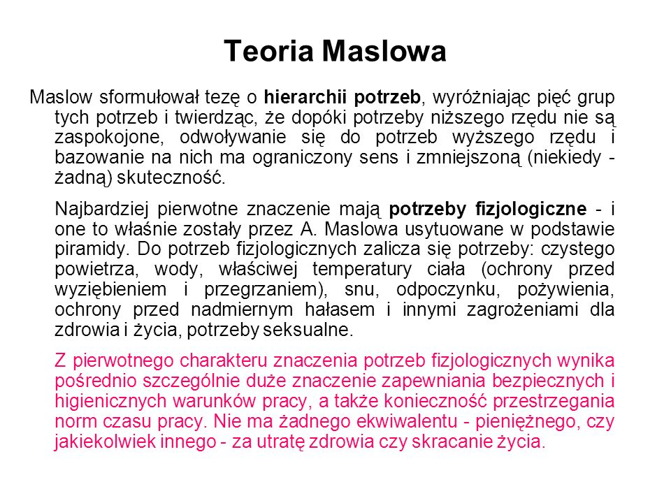 Teoria Maslowa