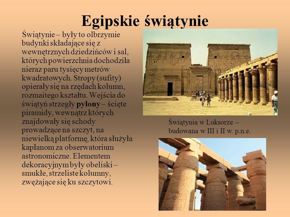 Egipskie świątynie