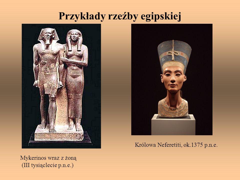 Przykłady rzeźby egipskiej