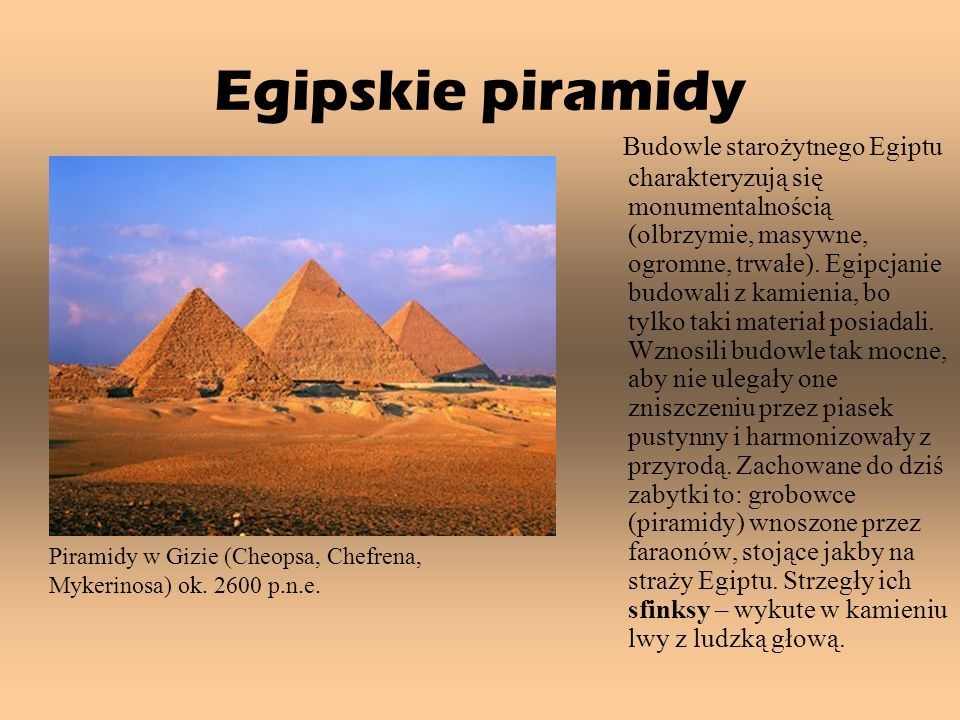 Egipskie piramidy