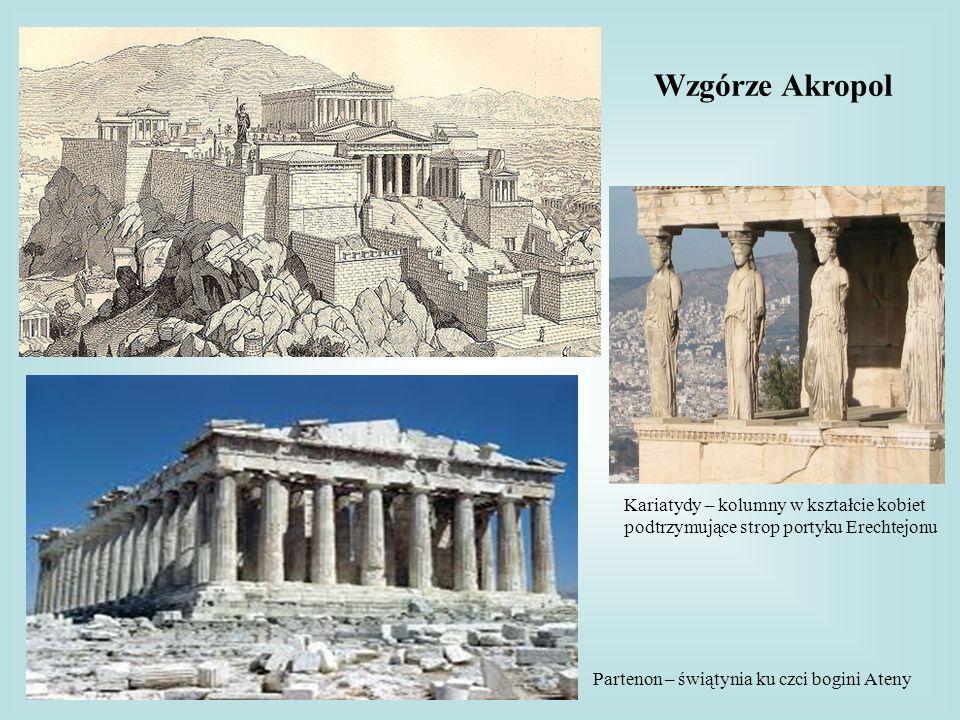 Wzgórze Akropol Kariatydy – kolumny w kształcie kobiet
