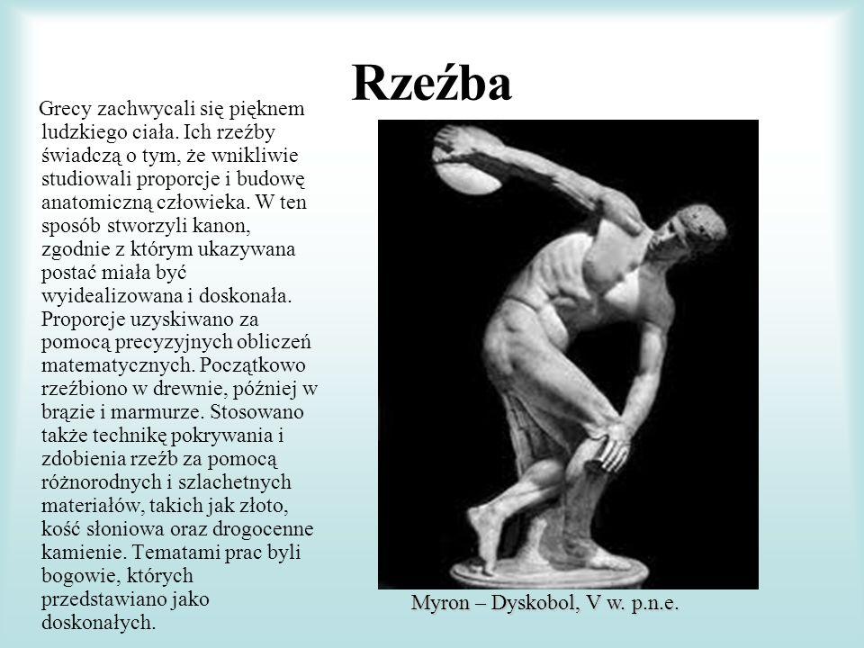 Rzeźba Myron – Dyskobol, V w. p.n.e.