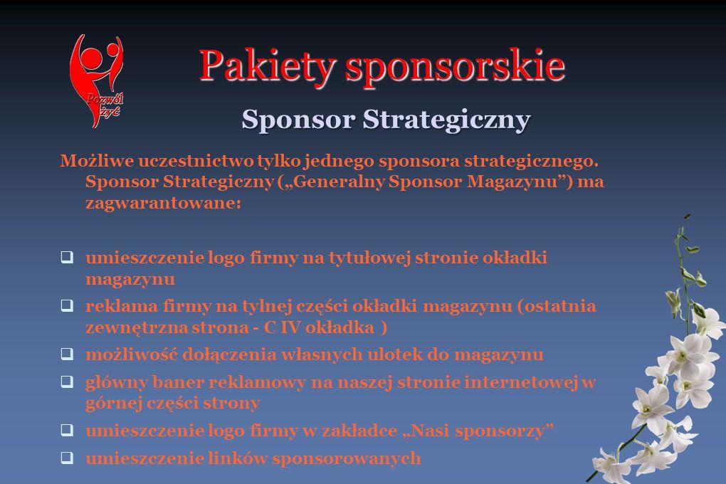 Pakiety sponsorskie Sponsor Strategiczny