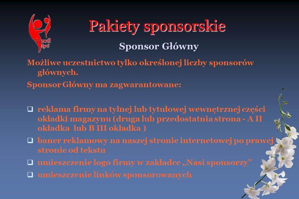 Pakiety sponsorskie Sponsor Główny
