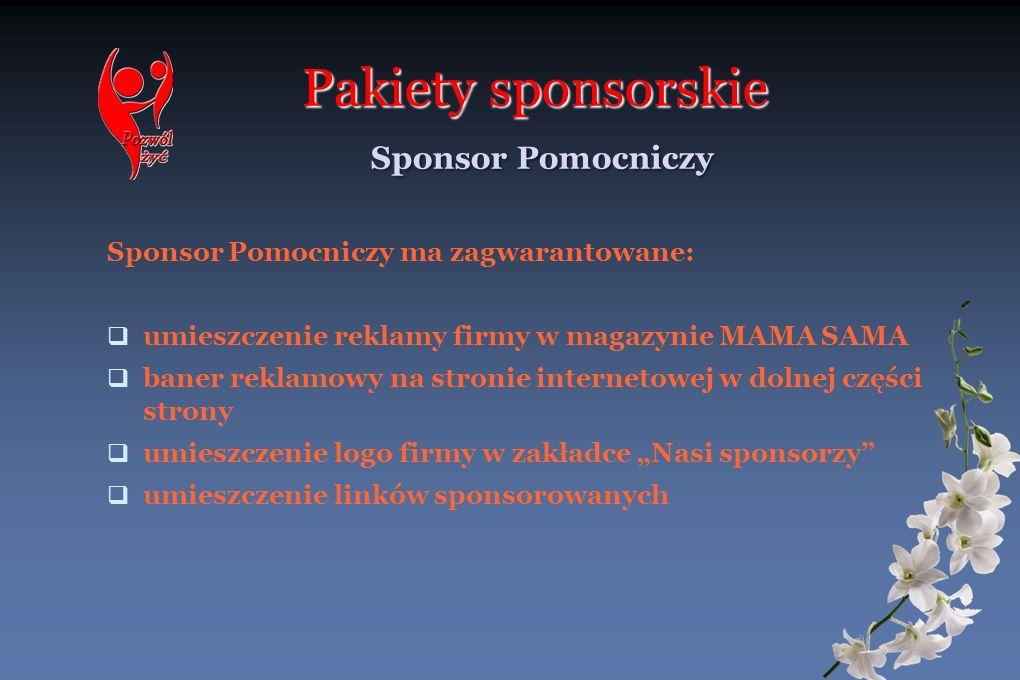 Pakiety sponsorskie Sponsor Pomocniczy
