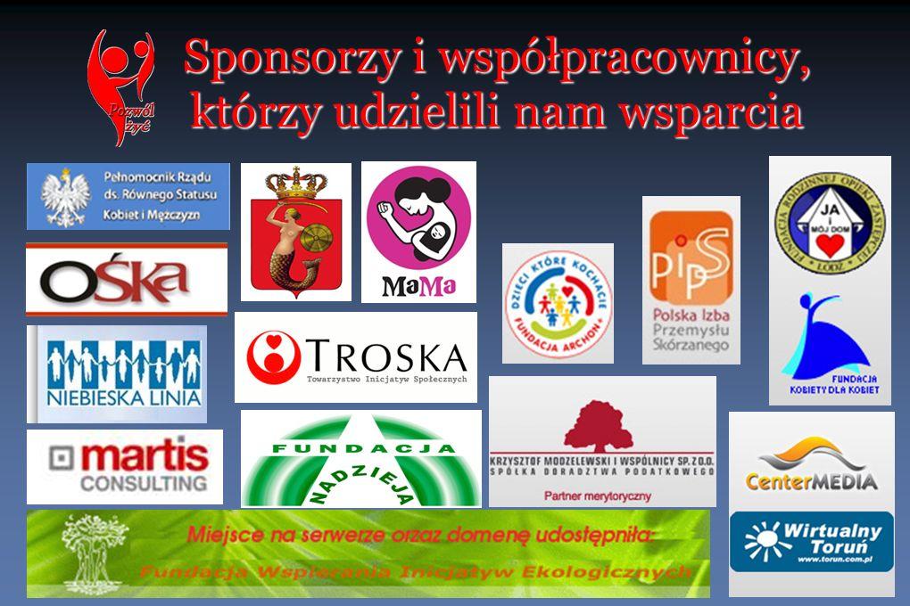 Sponsorzy i współpracownicy, którzy udzielili nam wsparcia