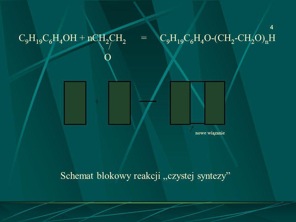 O + C9H19C6H4OH + nCH2CH2 = C9H19C6H4O-(CH2-CH2O)nH nowe wiązanie