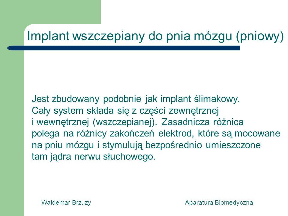 Implant wszczepiany do pnia mózgu (pniowy)