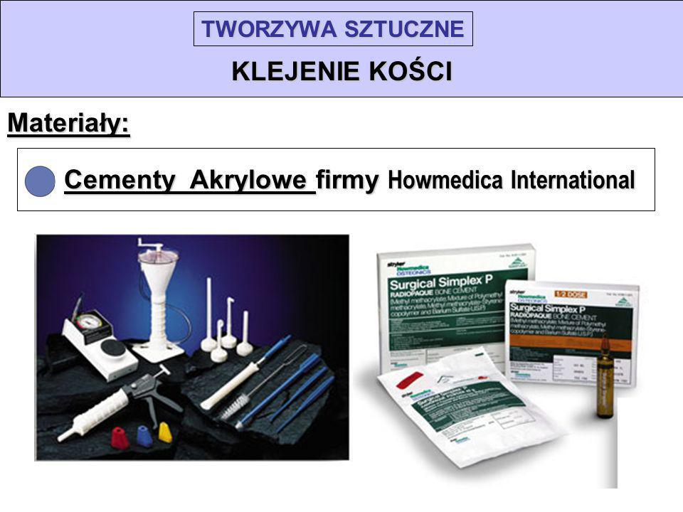 Cementy Akrylowe firmy Howmedica International