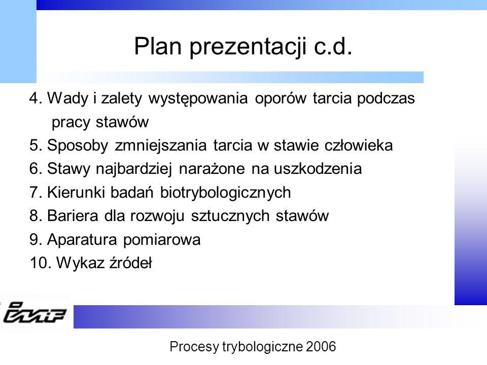 Procesy trybologiczne 2006