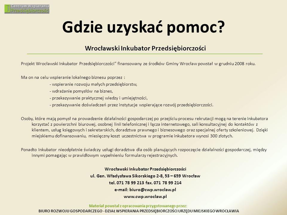 Gdzie uzyskać pomoc Wrocławski Inkubator Przedsiębiorczości