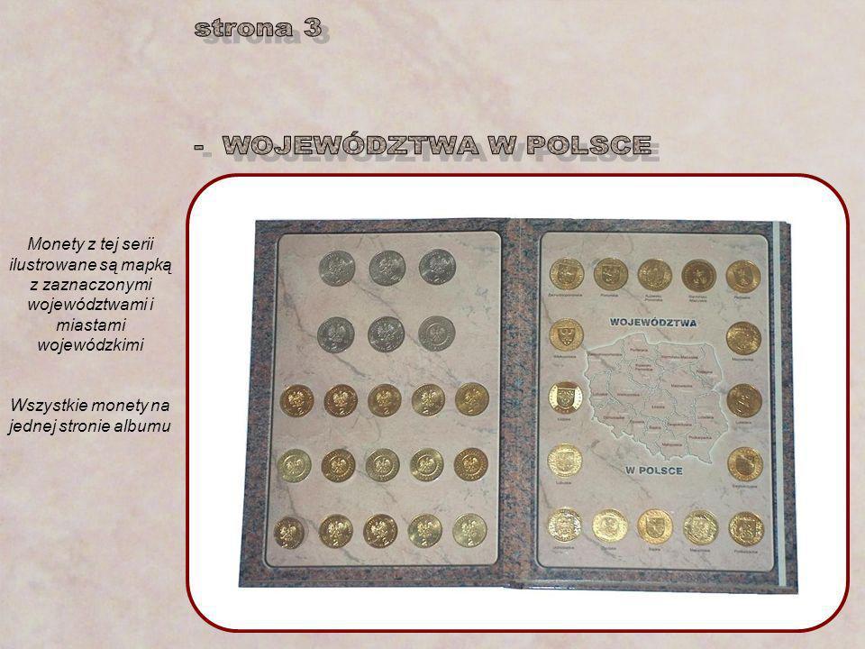 Wszystkie monety na jednej stronie albumu