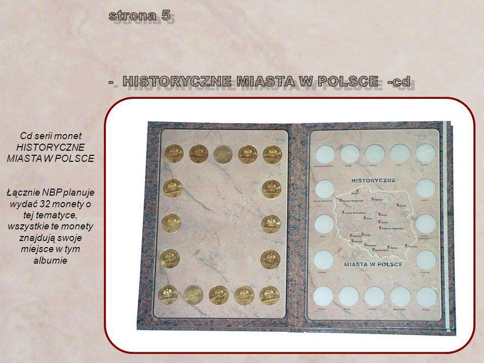 Cd serii monet HISTORYCZNE MIASTA W POLSCE