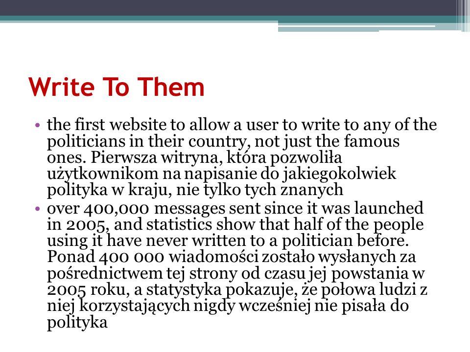 Write To Them
