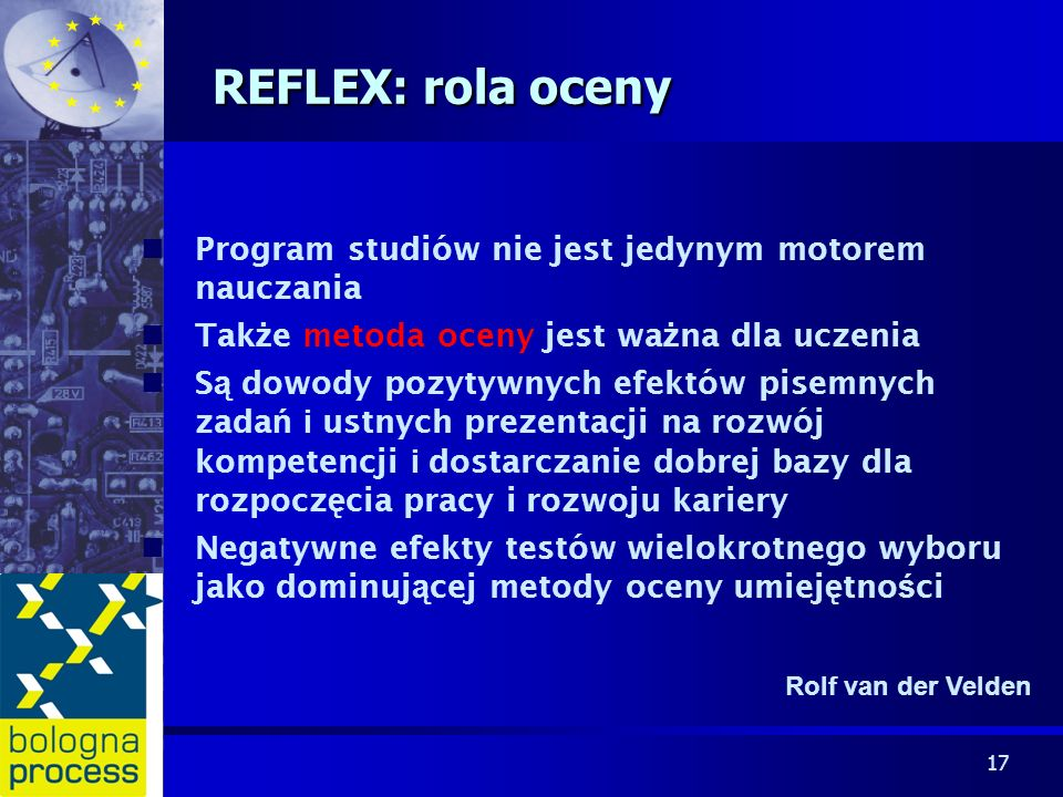 REFLEX: rola oceny Program studiów nie jest jedynym motorem nauczania