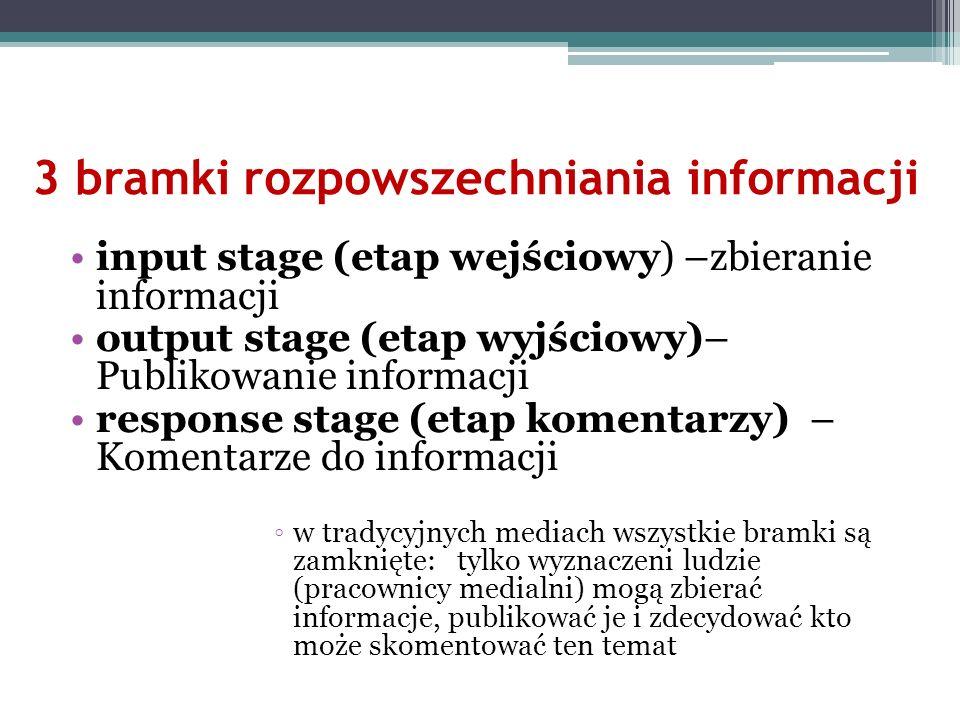3 bramki rozpowszechniania informacji