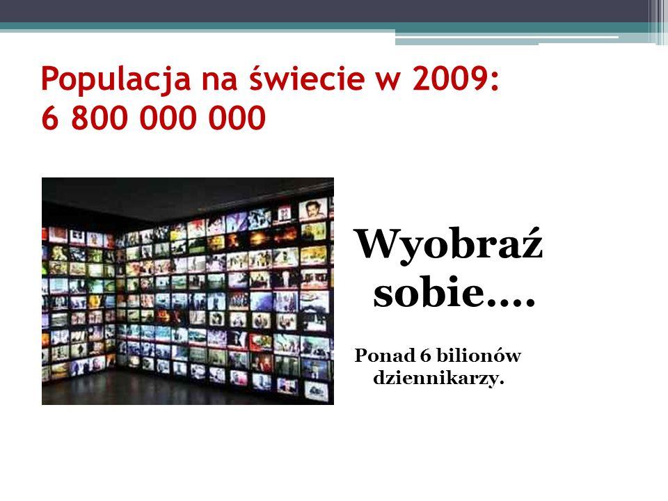 Populacja na świecie w 2009: 6 800 000 000