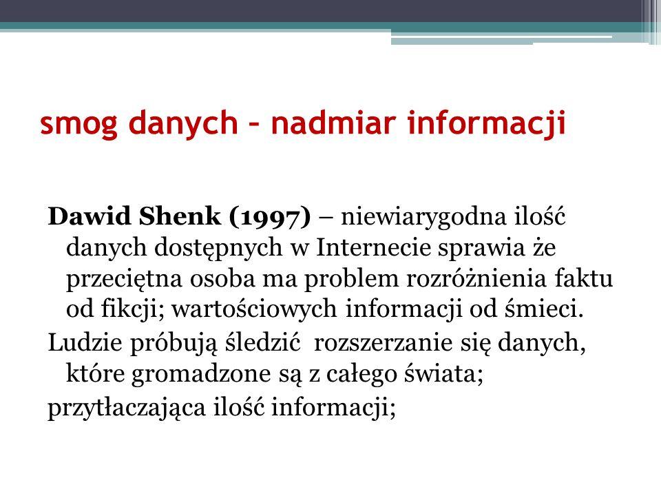 smog danych – nadmiar informacji