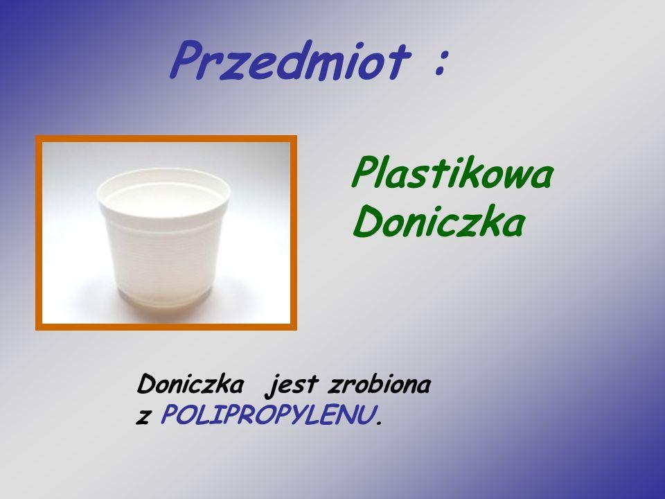Przedmiot : Plastikowa Doniczka