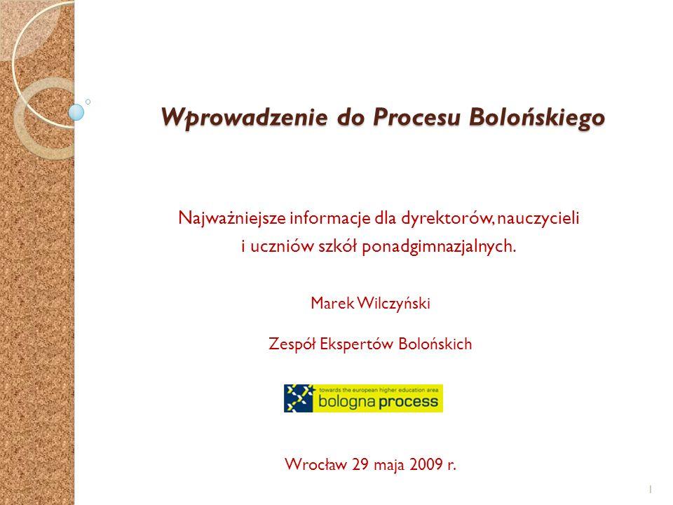 Wprowadzenie do Procesu Bolońskiego