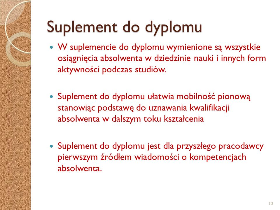 Suplement do dyplomu
